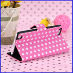 Touch 5 Polka Dot Leather Flip Case