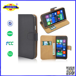 2015 Hot Selling PU wallet leather Cove case For Nokia 730