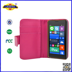 the best pu slim wallet leather case cover for Nokia 730