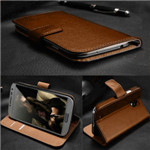 Real leather Wallet genuine Leather Case for iPhone 4 4s 4g