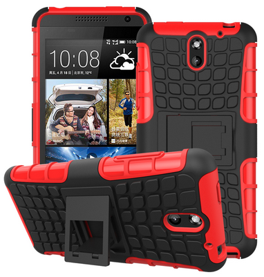 HEAVY DUTY TOUGH SHOCKPROOF WITH STAND HARD CASE COVER FOR HTC DESIRE 610