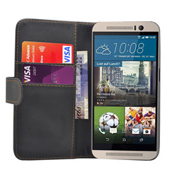 HTC One M9 Book Style Leather Flip Case