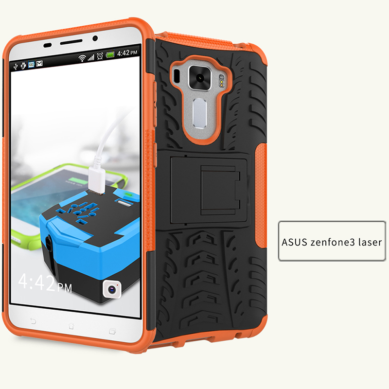 Asus Zenfone3 laser heavy duty touch shockproof stand cases
