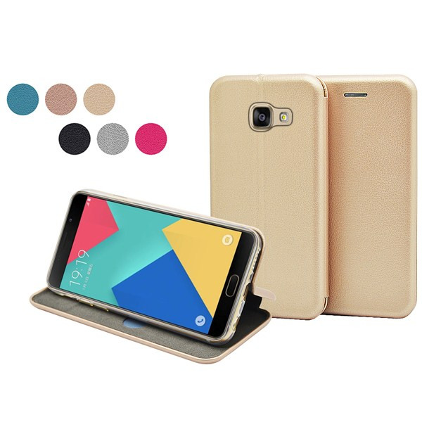 High quality full curved wallet case for Samsung Galaxy A7