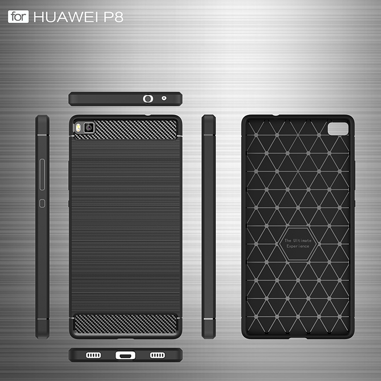 Huawei P8 Brushed TPU Drop-proof Carbon Fiber case