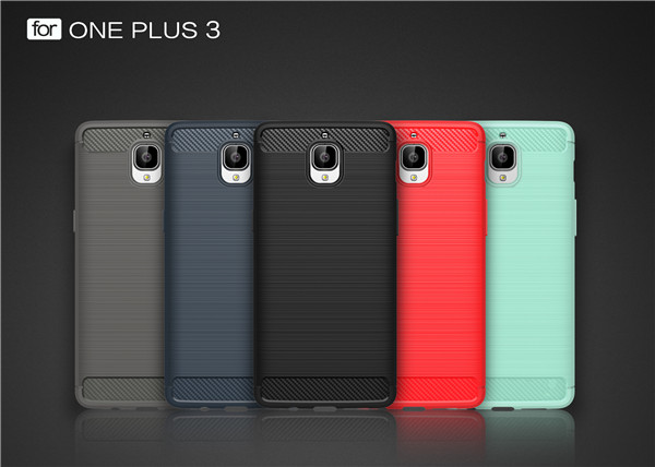 Anti-scratch One plus 3 Carbon Fiber TPU phone Case