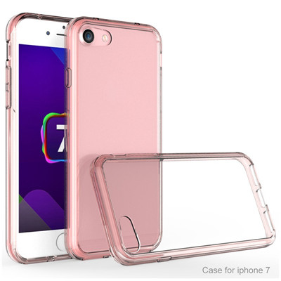 Transparent tpu pc case for iphone 7