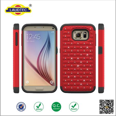 Mix Color Hard Plastic Silicon Bling Bling Mobile Phone Case For Samsung Galaxy S7 S7 Plus