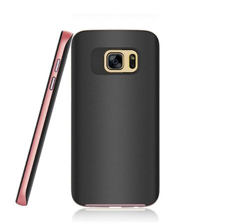 Super Slim light carbon fiber armor case cover for Samsung S7 Edge ,anti fingerprints metal plate