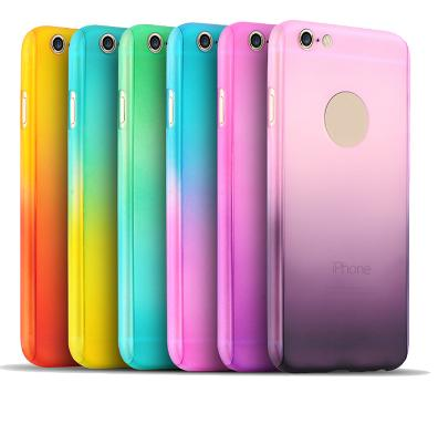 Colorful Hard Back Case Cover+Tempered glass screen protector for iphone 7