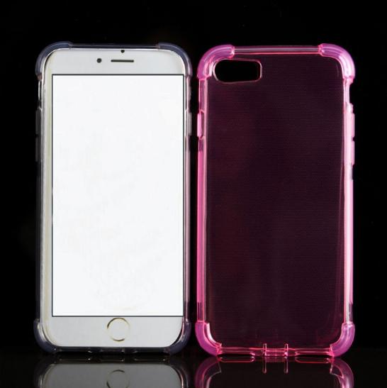 Shockproof Transparent tpu silicone Gel case cover for iphone 7