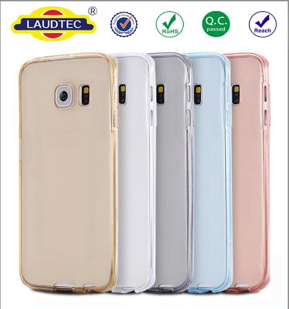 360 degree Transparent TPU Phone Case for Samsung galaxy S7 Edge Ultra thin Cover