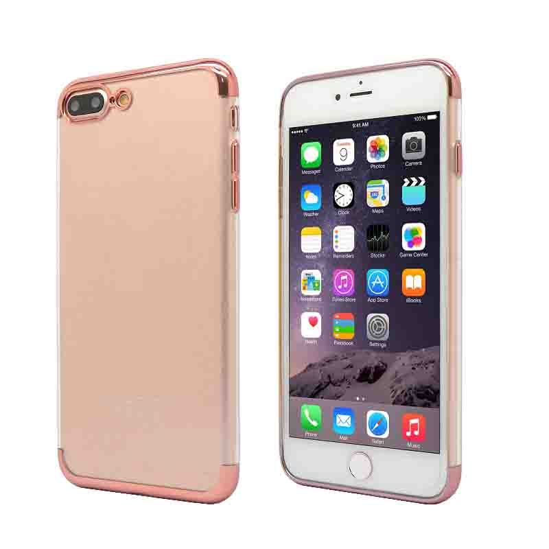 Electroplating Frame IPhone 7 plus TPU Crystal case cover