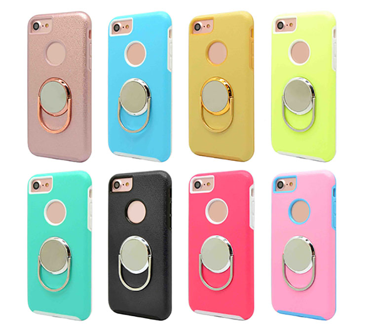 IPhone 7 rotation Ring stand holder phone case
