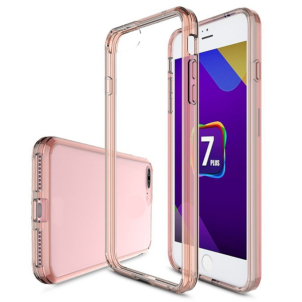 acrylic back+tpu bumper case for iphone 7 plus