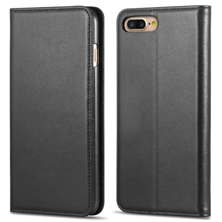 Magnetic flip cover leather case for iphone 7 plus