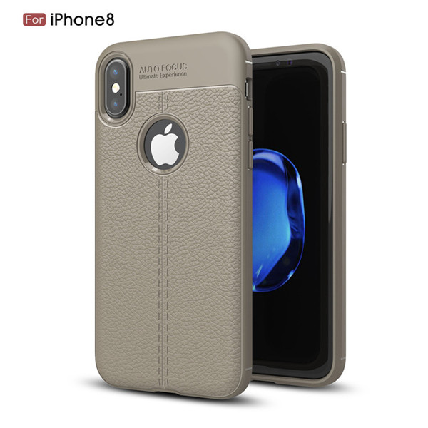 Litchi Pattern Silicone TPU Case for for iphone X
