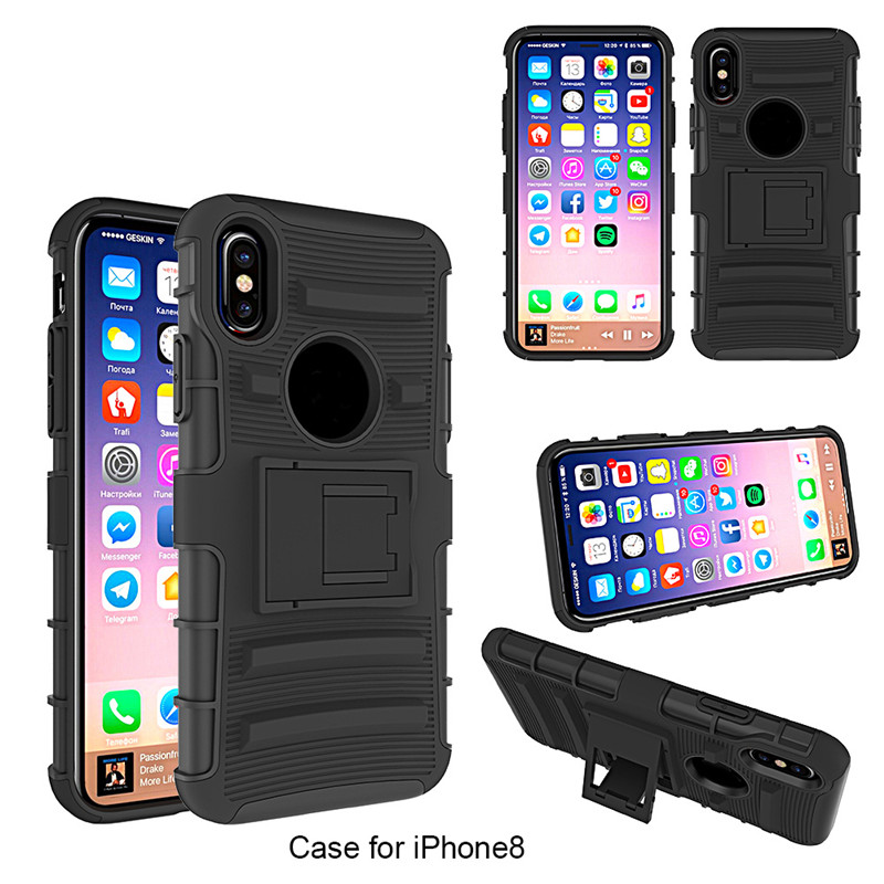 3 In 1 Belt Clip Holster Cover For Iphone X