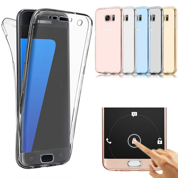Samsung Galaxy S8/sa plus Edge Wholesale Seamless Front and Back Two Pieces Clear Soft Shockproof 360 Degree Full Body TPU Gel Case