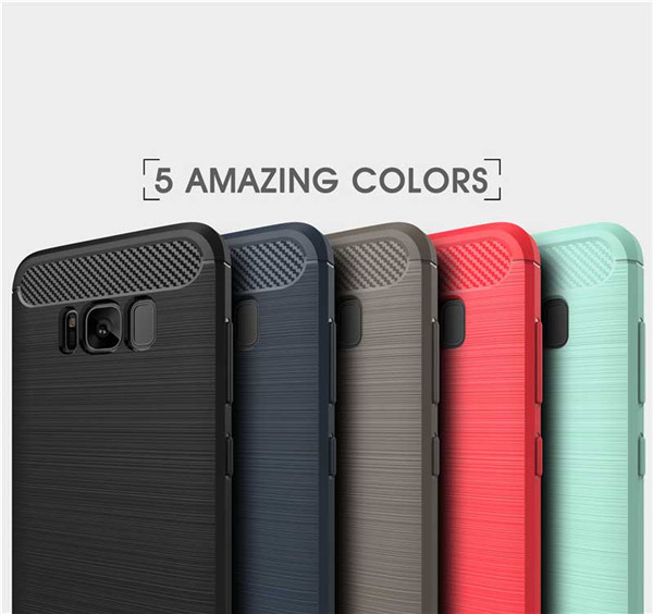 Carbon Fiber TPU Case for Samsung galaxy S8