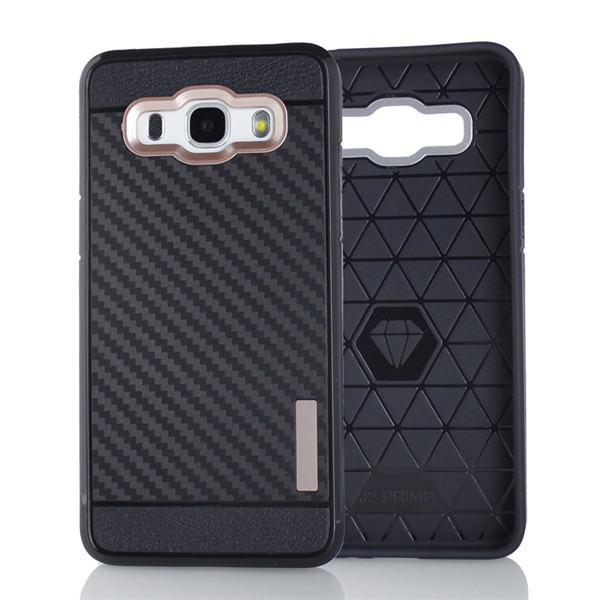 Carbon Fiber Tpu Case for Samsung Glaxy J2 Prime