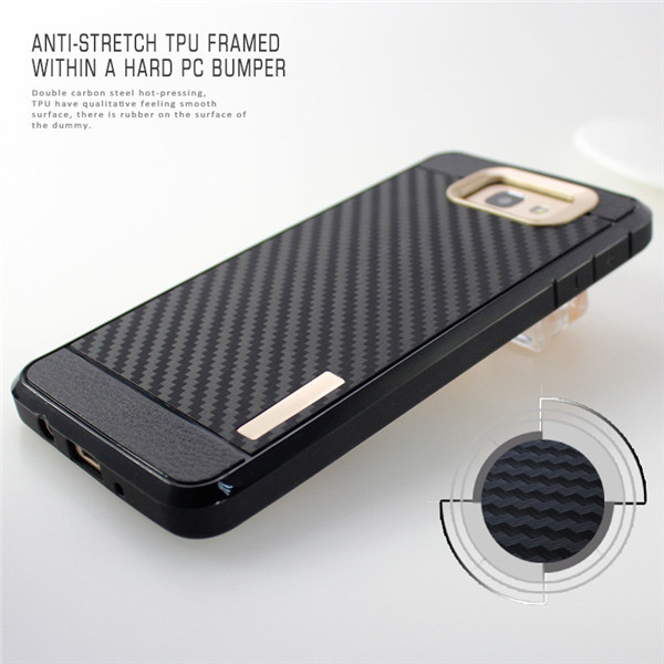 Carbon Fiber Tpu Cellphone Case for samsung Glaxy On 7