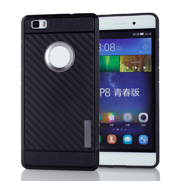 Carbon Fiber Tpu Back Cover For Huawei P8 Lite