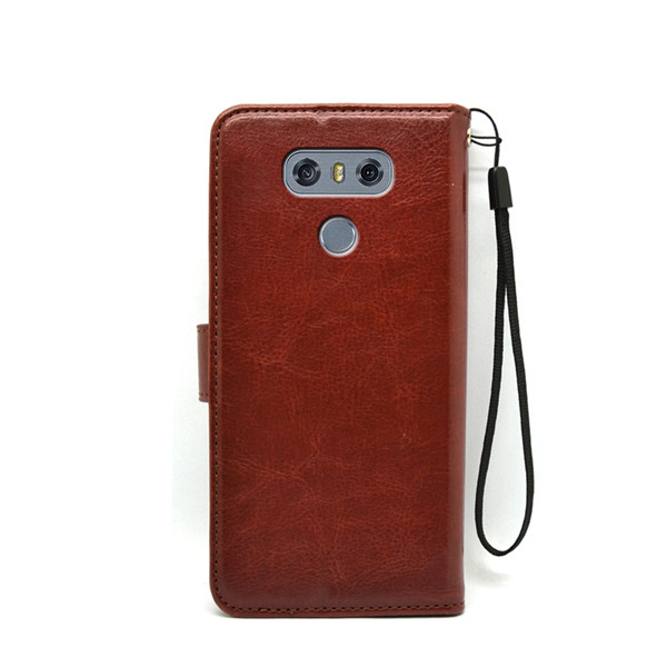 Luxury wallet stand case flip leather cover for LG G6