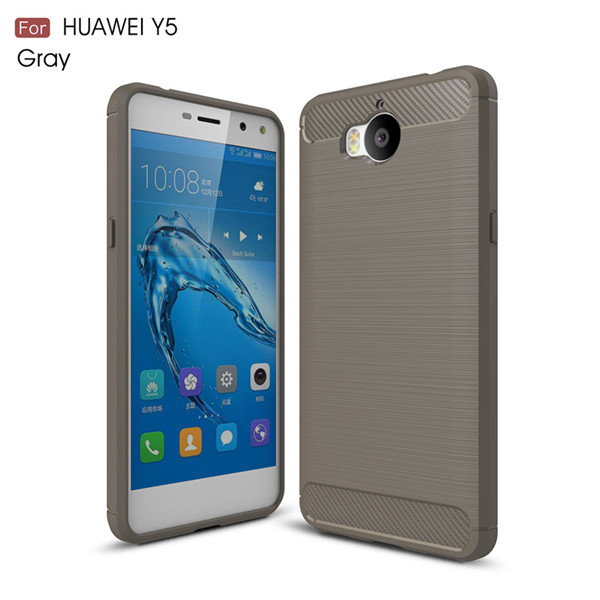 Protector Carbon Fiber Cover Case for Huawei Y5 2017