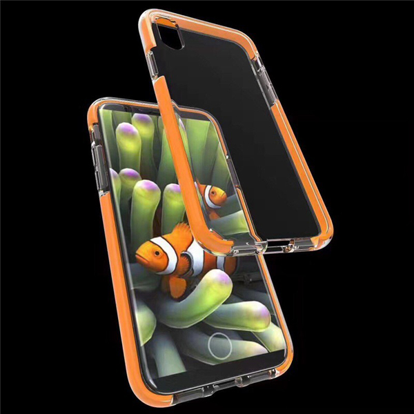 Clear Case TPU PC TPE 3 in 1 Cellphone Cover For iPhone 8