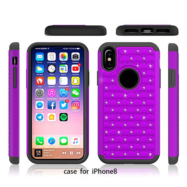 Cell Phone Case For Iphone 8 Rugged Hybrid Bumper Protective Case