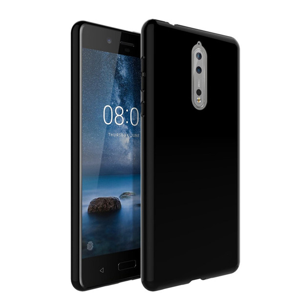 new concept f36a9 21a97 Nokia 8 Clear Solid Black Silicone Case