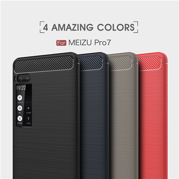 Carbon Fiber Case For MEIZU Pro 7 Business Style TPU