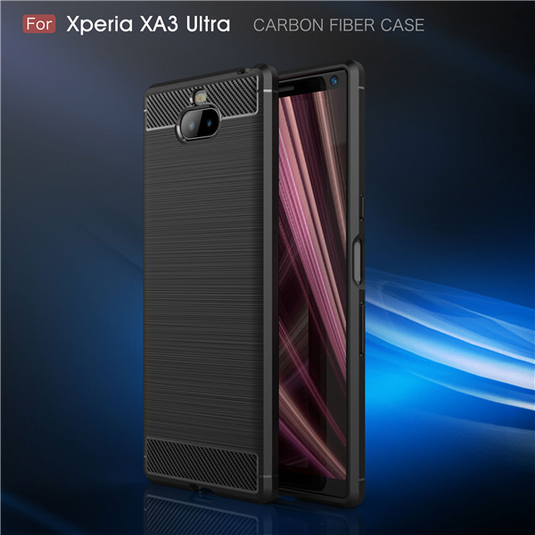 Carbon Fiber TPU Shockproof Case For Xperia xa3 Ultra