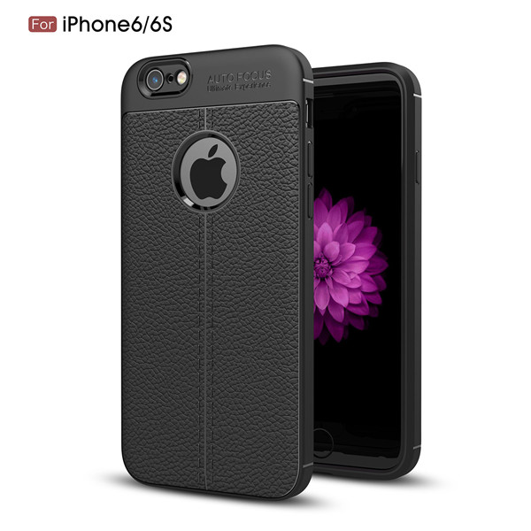 Stylish TPU Carbon Fiber Design Mobile Phone Case for iPhone6/6s