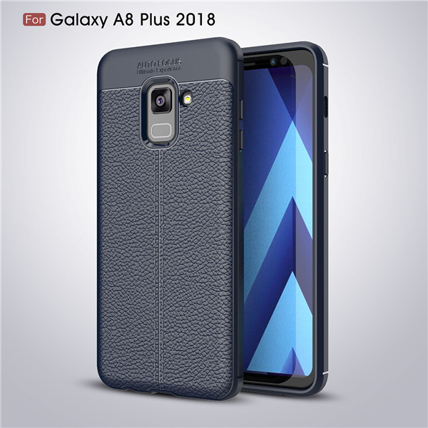Latest design ​Carbon Fiber TPU Case For Galaxy J4 leather patter case