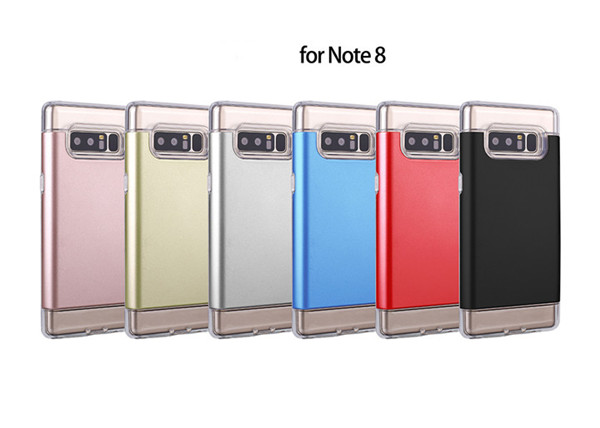 Crystal card slot TPU PC case for Samsung note 8