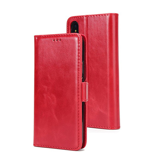 Iphone X Slots Holder Pu Leather Case For Iphone X