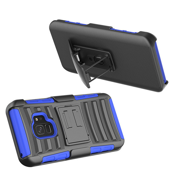 Combo Shell & Holster Case Built-In Stand + Swivel Belt Clip Holster Case for Samsung Galaxy S9