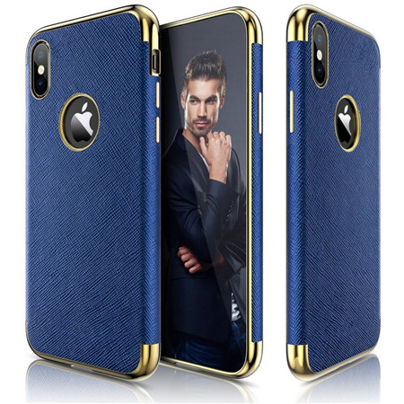 Trending design TPU leather cover case for iphone x