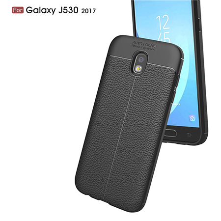 For Samsung J5 2017 TPU Lichi Leather Pattern Back Cover Case