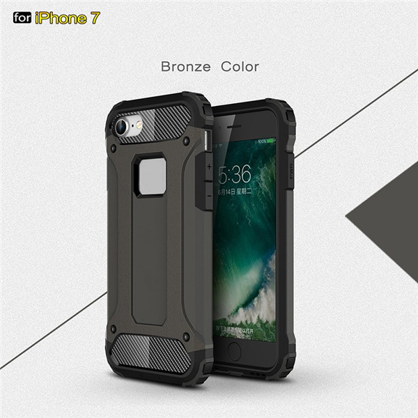 PC TPU Dual Layer mobile phone Armor Case for iPhone 7 Plus