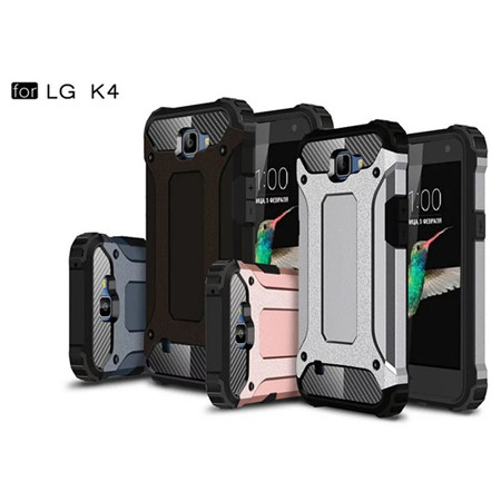 Shockproof tpu pc armor case cover mobile phone shell for LG K4