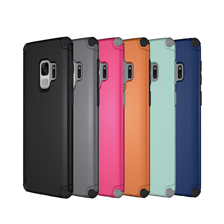2 In 1 shockproof  TPU PC Shockproof Case Cove for Samsung S9
