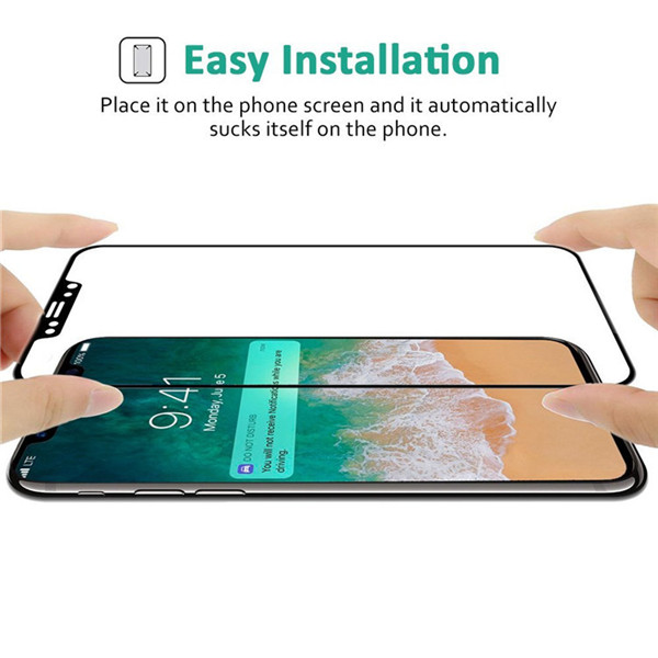 3D Curved Tempered Glass Screen Protector for iphone x