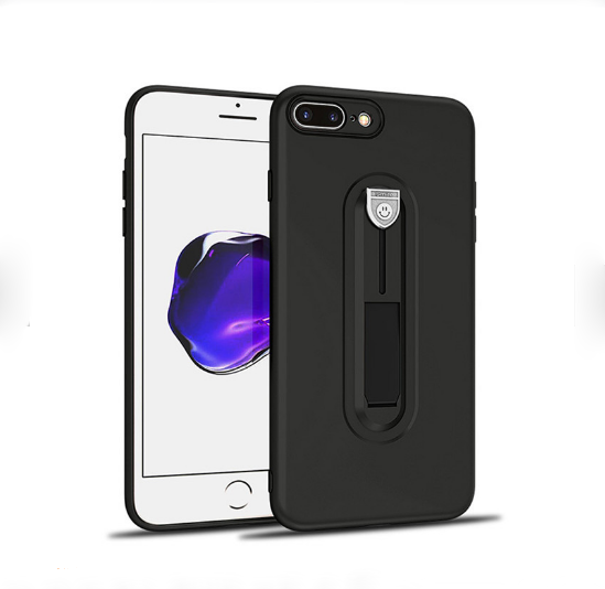 Luxury TPU Bumper Case Cover with Built-in 360 Ring Grip Holder for Apple iPhone 7 Plus