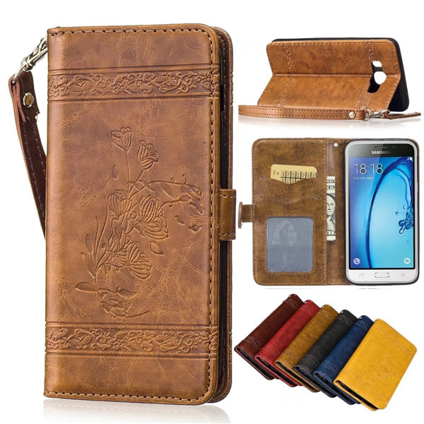 Genuine Leather Case With Stand for Samsung Galaxy J7 2016