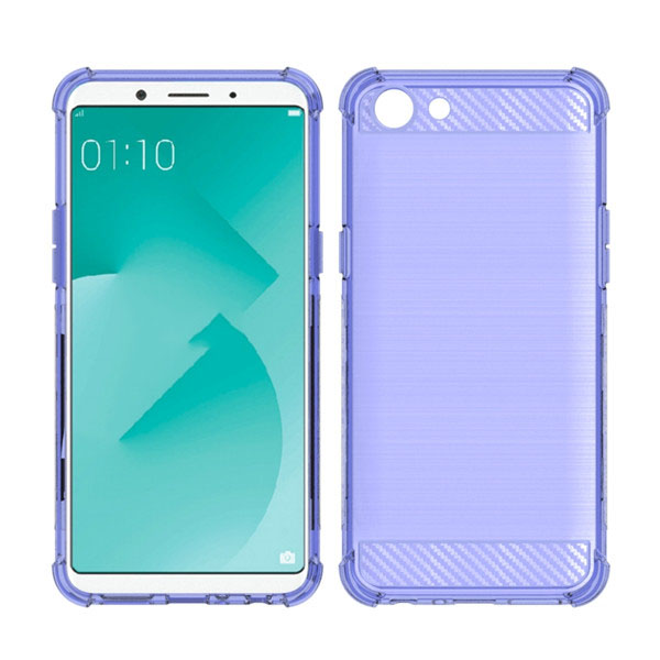 Brush Carbon Fiber Shockproof TPU Case for OPPO A83 Case
