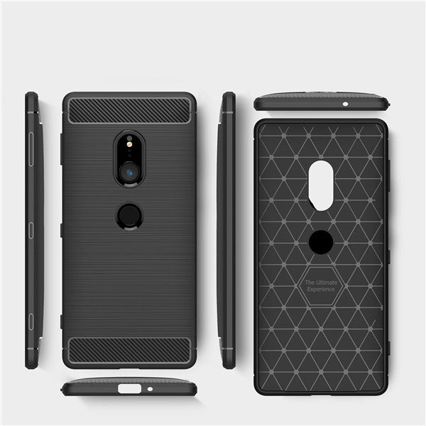 Carbon Fiber TPU Protective Case for SONY XZ2 Case