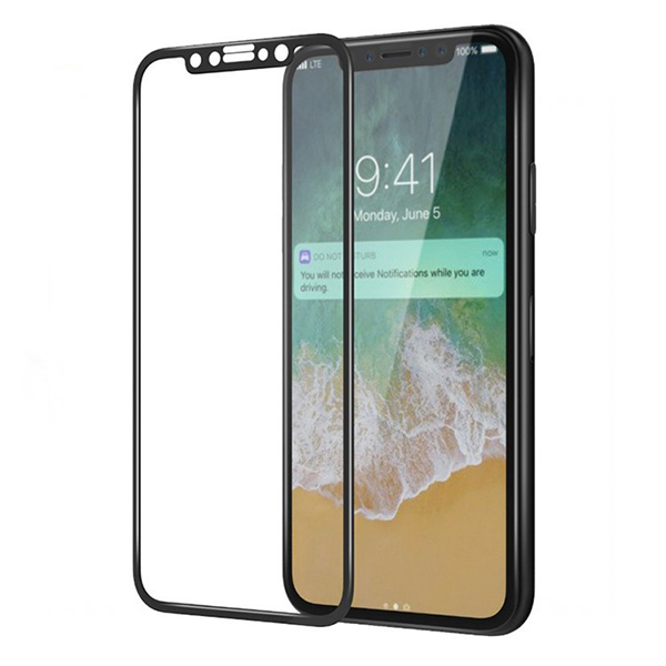 Anti-scratch 3D Curved Tempered Glass Screen Protector for iphone x